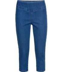 jeans capri elasticizzati con cinta modellante (blu) - john baner jeanswear
