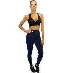 legging question sport cintura alta azul marinho