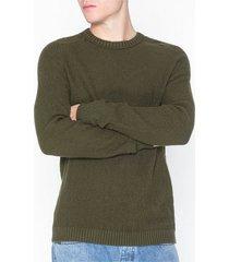 jack & jones jcocloud knit crew neck tröjor mörk grön