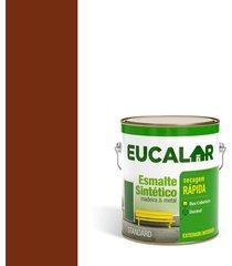tinta esmalte sintético brilhante 3,6 litros tabaco - eucalar - eucatex