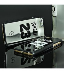 luxury nba brand michael jordan case for iphone 7 7 plus 5 5s se pc hard mirror