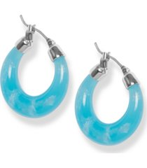 lucky brand colored hoop earrings