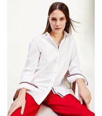 camisa manga larga essential boyfriend blanco tommy hilfiger