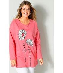 sweatshirt janet & joyce koraal::wit