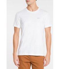 camiseta slim flamê calvin klein - branco - g