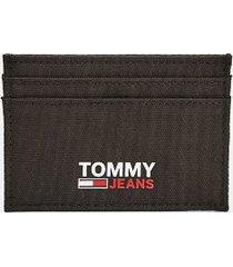 tommy hilfiger men's tommy jeans credit card holder black -