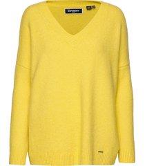 edit eva vee knit gebreide trui geel superdry