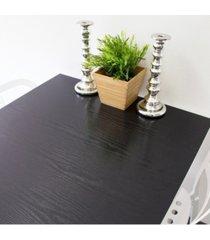 black wood adhesive film set of 2