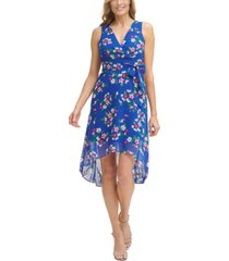 jessica howard petite printed high-low dress
