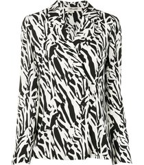 dvf diane von furstenberg courtney abstract animal print silk jacket -