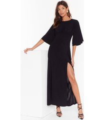 angel in disguise wide sleeve maxi dress