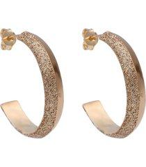 orecchini a cerchio in ottone bronzato e glitter bronzo per donna