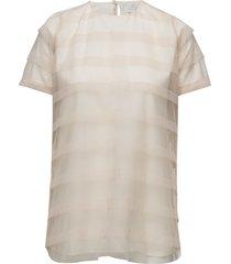 striped tulle tee-shirt blouses short-sleeved rosa cathrine hammel