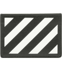 off-white diag leather card holder