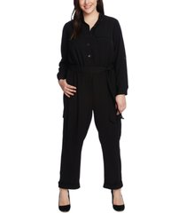 vince camuto plus size belted cargo jumpsuit