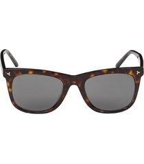 bally women's 55mm square sunglasses - havana