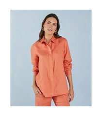 camisa mila cor: laranja - tamanho: pp
