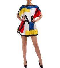 vestito abito donna al ginocchio manica corta