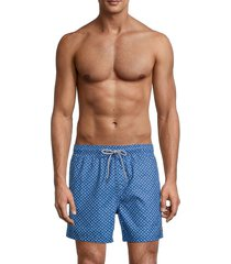 ted baker men's suspect leaf-print swim shorts - bright blue - size 2 (s)