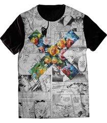 camiseta elephunk estampada geek xxx moon xxx preta - kanui