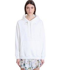 alessandra rich sweatshirt in white cotton