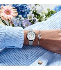 olivia burton women's rainbow bracelet - silver