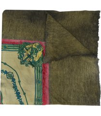 avant toi belt print scarf - green