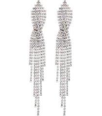 nicole miller criss-cross chandelier earring