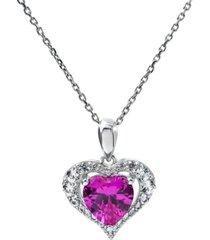 women's heart pendant necklace in sterling silver