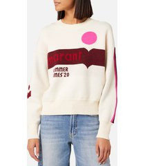 isabel marant étoile women's kleden sweater - pink/ecru - fr 36/uk 8