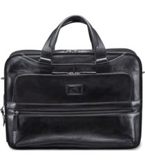 mancini vanizia collection top zippered triple compartment laptop and tablet briefcase