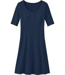 jersey jurk, nachtblauw 38