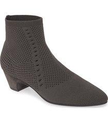 women's eileen fisher purl sock bootie, size 7.5 m - grey