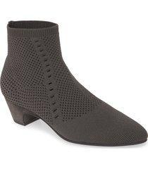women's eileen fisher purl sock bootie, size 10 m - grey