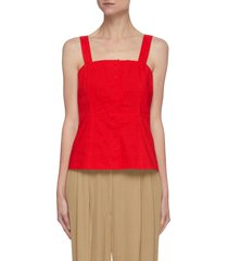 'kayleigh' square neck button front cami top