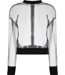 alchemy sheer mesh jacket - black