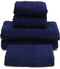 jogo de banho 5 pã§s buddemeyer florentina azul 70x135 - azul - dafiti