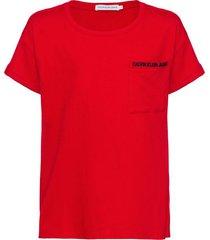 camiseta mc ckj pocket embroidery - vermelho - 6