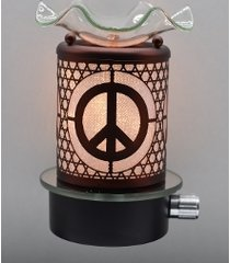 copper peace sign wall plugin oil/tart warmer use with scentsy/yankee candle