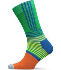 folded stripe sock underwear socks regular socks orange happy socks