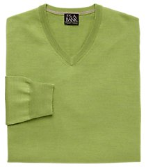 traveler collection tailored fit merino wool v-neck men's sweater