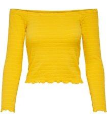 geel only onlolivia l/s off shoulder top top