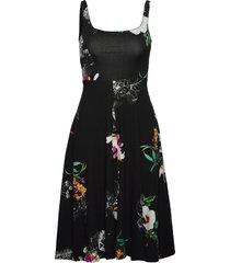 vest nueva york knälång klänning svart desigual
