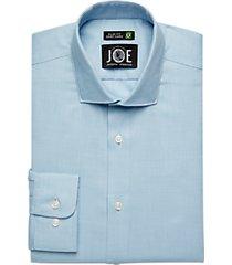 joe joseph abboud repreve® teal blue woven slim fit dress shirt