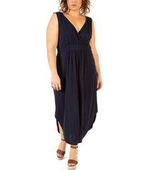 black tape plus size high-low dress