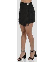 falda con hebilla de mujer exotik ew172-1115-768 negro