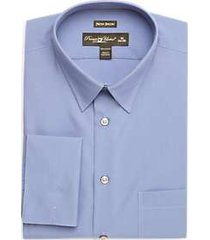 pronto uomo blue french cuff modern fit dress shirt