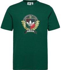 c crest tee t-shirts short-sleeved grön adidas originals