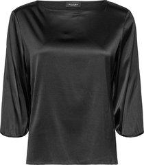 3176 - nova blouse lange mouwen zwart sand
