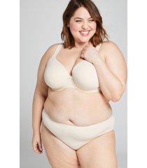 lane bryant women's cotton hipster panty 26/28 beige
